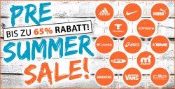Pre Summer Sale mit bis zu 65 Prozent Rabatt auf viele Marken bei Pluto Sport