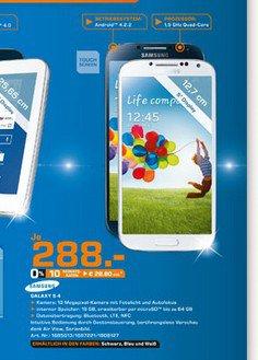 [Lokal @Saturn Leverkusen] Samsung Galaxy S4 für 288€ oder Galaxy Tab 3 10.1 für 188€