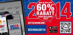 sc24.com : 60% auf Fanartikel mit Gutscheincode in der SC24 App