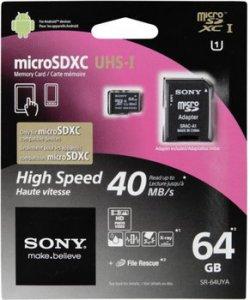 SONY SR64UYA microSDXC Karte 64GB Class 10 für 38,00 € inkl. Versand (56,90 € Idealo) @Saturn