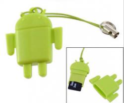 Technik-Gadget: MicroSD-Kartenleser –  Lovely Cute Android Robot D9 nur 66 Cent inkl. Versand @ebay