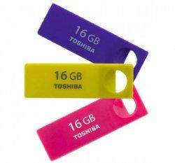 """TOSHIBA """"Enshu"""" 16GB Mini-USB-Stick mit USB 2.0, drei Farben zur Auswahl für nur 7,43€ inkl. Versand @meinpaket.de"""