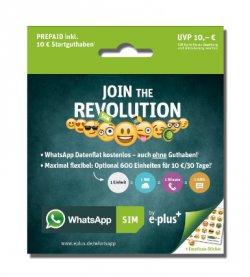 WhatsApp Prepaid-Tarif  für 10€ inklusive 10 Euro Startguthaben