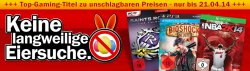 Zu Ostern Konsolenspiele stark reduziert @MediaMarkt z.B. BioShock: Infinite (PS3) für 8,00 € (17,89 € Idealo)