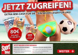 1 Jahr Sport Bild für ab 6,70€ dank 80€ Bar Scheck bis 21.05 | ab 22.05 nur noch 60€ @lesershop24.de