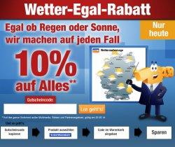 10 % Rabatt auf Alles bei Plus.de mit dem Wetter Egal-Rabatt, nur heute
