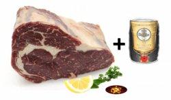 1,2kg Entrecote vom Alpenrind für 33,33€ –  inkl. 5 Liter Fass Warsteiner @Gourmetstar.de