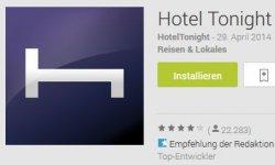 1€ und 20€ Gutschein für Hotel Tonight App