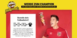 2 Dosen Pringoooals kaufen und ein Fussballtshirt von der Marke Umbro erhalten [ 3€ Zuzahlung ]