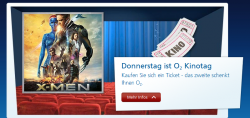 2 für 1 CinemaxX, UCI Tickets oder CineStar Aktion für O2 Kunden @o2online.de
