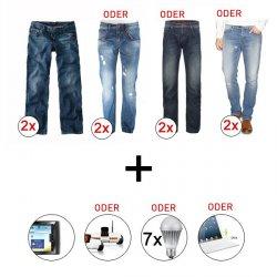2 x H.I.S Herren Jeans + Archos Tablet PC oder iPad Tastatur, Spy C Tank Roboter oder 7 LED Lampen für nur 66 Euro bei Ebay