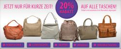 20 Prozent Rabatt auf alle Handtaschen + kostenloser Versand bei Roland