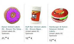 3 Simpsons-Kissen zum Preis von 20€ kostenloser Versand dank Gutscheincode@ Elfen