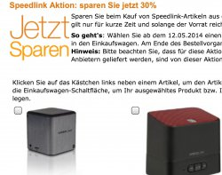 30% auf ausgewählte Speedlink Produkte @amazon