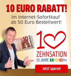 5 € + 5 € + 10 € Gutscheine + ggf. versandkostenfrei @1-2-3.tv