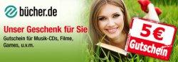 5€ Gutschein für Buecher.de