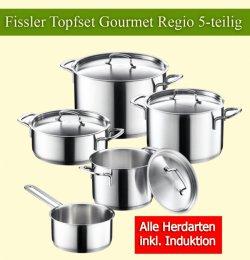 5-teiliges Fissler Topfset Gourmet Regio nur 132€