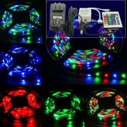 5M 3528 LED RGB Strip Streifen Set mit IR Controller, Fernbedienung & Netzteil für 10,81€ inkl. Versand