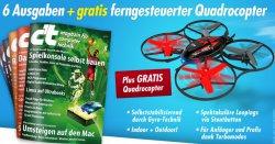 6 Ausgaben Zeitschrift ct + Quadcopter Spirit X005  nur 16,50€ frei Haus @lesercervice.heise.de