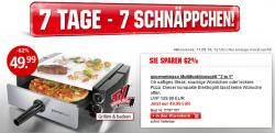 7 Tage 7 Schnäppchen @Weltbild z.B. Original Gourmet Maxx Multifunktionsgrill 2in1 für 49,99 € zzgl. 3,99 € Versand (72,90 € Idealo)