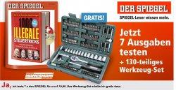7 x Der Spiegel Probeabo + 130 tlg. Werkzeugset gratis dazu nur 19,90€ @mp-success