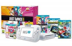 Amazon England bietet auf Vorbestellung ein Bundel: Wii U 8Gb mit Gamepad + Nintendo Land + Just Dance 2014 + Wii U Party mit Remote Plus + Mario Kart 8* für ca. 313€ ink. Versand