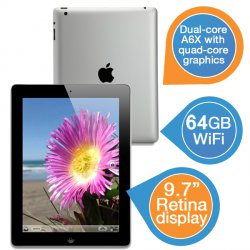 Apple iPad 4 64 GB black für 449,95 € zzgl. 5,95 € Versand (499,95 € IdealoI) @iBOOD Extra
