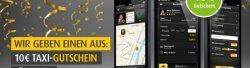 Bis zu 26€ Rabatt auf die nächsten Taxifahrten @mytaxi