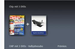 CHIP mit 3 DVDs – Halbjahresabo + SmartPlane [Smartphone gesteuertes Flugzeug – Wert 49,99€] für 39,96€