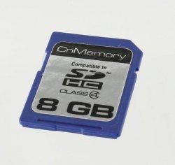 CnMemory SDHC 8GB Class 4 Speicherkarte für 3,95 Euro inkl. Versand (statt 8,39 Euro bei Idealo) @eBay