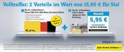 Conrad Volltreffer: 8GB USB Stick gratis (25€MBW) und 5,95€ Sofortrabatt (45€MBW)