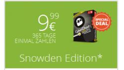 Cyberghost VPN Snowden Edition für 9,99€ 1 Jahr für 1 Gerät [idealo 20,04€]