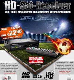 dig. HD Sat Receiver mit. Full HD Player 22,90€ zzg. Versand Aufnahmefreischaltung einmalig 9,90€ @pearl.de