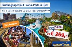 Europa-Park Eintrittskarten inkl. 2 Übernachtungen im Hotel für 2 Personen ab 254€ @ab-in-den-urlaub