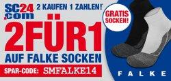FALKE Socken: 2 kaufen 1 zahlen @SC24.com