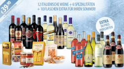 Giordano-Weine: 22 Flaschen Wein + 6 ital. Spezialitäten für 51,68€ inc. Versand
