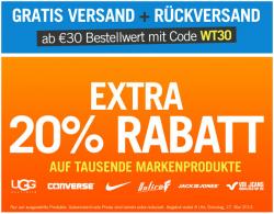 GRATISVERSAND + RÜCKVERSAND ab 30€ Bestellwert mit Code WT30 bei Mandm Direkt