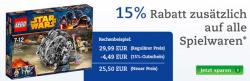 Gutschein für 15% auf alle Spielwaren, auch auf reduzierte @thalia.de