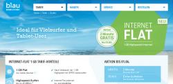 Internet-Flat 1 GB für 2 Monate gratis testen Starterpreis 9,90 mit 25€ Guthaben@ blau.de