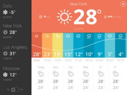 iOS-App Weather glance – daily live forecast heute gratis statt 1,79€ @iTunes.de
