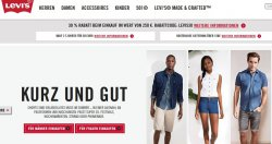 Knaller! Bis zu 60% Rabatt durch 2 Gutscheincodes im Levi's Onlinestore! (noch) ohne Mindestbestellwert