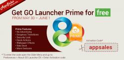 Kostenlos bis 01.06. GO Launcher Prime ( Neueste Version 5) App für Android @ GooglePlay