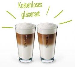 Kostenloses TASSIMO by WMF Latte Macchiato Gläserset ab 35€ Einkaufswert durch Gutschein + Gratisversand @tassimo.de