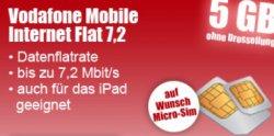 Vodafone Mobile Internet Flat (5 GB bis 7,2 MBit/s, danach 32 KBit/s) kostenlos durch Bargeld-und Payback Erstattung