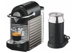 KRUPS Nespresso Pixie XN301T Edelstahl+ Aeroccino3 für 129€ + 80€ Guthaben @Saturn