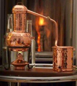 Kupfer Destille Kolonnenbrennerei 0,5L nur 79,20€ inc. Versand durch Gutschein (statt 129€)