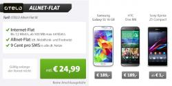 Live Deal 2 – Allnet Flat + z.B. Samsung Galaxy S4 16GB für nur 24,99 Euro mtl. bei Sparhandy