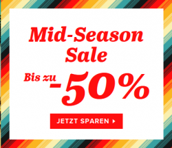 Mid Season Sale mit bis zu 50 Prozent Rabatt bei Sarenza