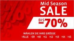 Mirapodo Sale bis zu 70% Rabatt auf Schuhe + 10% Gutscheine + 1 Jahr Myself Gutschein