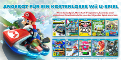 Nintendo Bonus Spiel Aktion: zu Mario Kart 8 nach Registrierung 1 von 10 Spiele gratis dazu erhalten !
